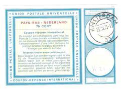 Coupon-réponse 75 Cent Modèle Vi 21 - Amsterdam 33 1973 - CRI IRC IAS