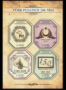 Q408.-. TURKEY / TURQUIA .-. 2013 - MINISHEET .-. 150 YEARS OF TURKISH STAMPS - Nuevos