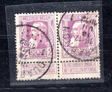 8805 Belgien Belgie Mi 77 Waagerechtes Paar Gestempelt