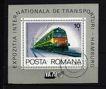 RUMÄNIEN - Block Nr. 166 Dieselelektrische Lokomotive, 4000 PS Gestempelt