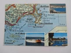 015T/ Plan Map Cote D'Azur 1974 - Cartes Géographiques