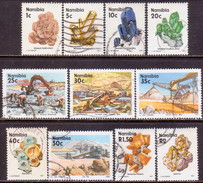 NAMIBIA 1991 SG 553//565 Part Set Used 11 Stamps Of 15 Minerals - Namibia (1990- ...)