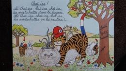 CPM CHAT IRA REVOLUTION BICENTENAIRE ILLUSTRATRICE JACQUELINE BOURDILLON POU CPC COLLECTIONS  N° 129  1989 - Chats