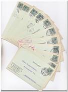 11 Briefkaarten 1928-29 Van Harlingen Naar Amsterdam ( V.h. Oolgaard & Co. Likeurstokerij, Distilleerderij, D'Olijfboom - Cartas