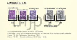 Lamouche  Variétés Sur 0,10€   5 Timbres Neufs Avec Support Cartonné