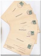 """5 Briefkaarten 1930-32 Van Wormerveer Naar Amsterdam ( Russ. Caramelfabriek """"PROMENA"""" )"""