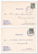 2 Briefkaarten 1933-34 Van Alphen A.d. Rijn Naar Amsterdam ( Stokhuyzen's Vruchtensap En Jamfabriek )