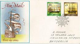 Voiliers Des Grands Explorateurs Découvrant La Papouasie (Sloops HMS Blanche 1872 & HMS Fly 1845) Lettre Vers Australie