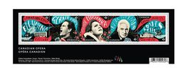 Canada 2017 Canadian Opera Souvenir Sheet Block Of 5 Different MNH Stamps  A04s