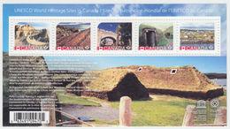 Canada MNH Souvenir Sheet Block 5 Sites 2017 UNESCO World Heritage Sites In Canada  A04s