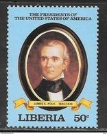 50 Cents US President James K Polk Mint Never Hinged