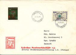 Finland Cover Sent To Denmark Tikkurila Dickursby 3-12-1969 Single Franked +TB Seal