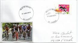 Tour De France 2010. Départ étape Cambrai-Reims 7 Juillet 2010, Belle Lettre Cambrai Adressée 04