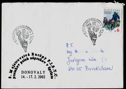 593-SLOVAKIA Kuvert-cover 8. ME FISTC Mit Hundeschlitten-8th European Sled Dog Race Championship FISTC Donovaly 2002