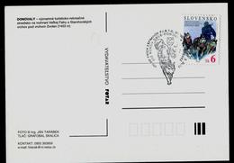 594-SLOVAKIA Post Card 8. ME FISTC Mit Hundeschlitten-8th European Sled Dog Race Championship FISTC Donovaly 2002