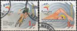 Lietuva 2000 Michel 735 - 736 O Cote (2013) 4.00 Euro Jeux Olympiques Sydney Cachet Rond - Lituanie
