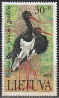 Lietuva 1991 Michel 489 Neuf ** Cote (2013) 0.90 Euro Cigogne Noire - Lituanie
