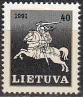 Lietuva 1991 Michel 491 Neuf ** Cote (2013) 0.20 Euro Cavalier - Lituanie