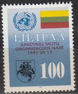 Lietuva 1992 Michel 495 Neuf ** Cote (2013) 0.50 Euro Adhésion à L'ONU - Lituanie
