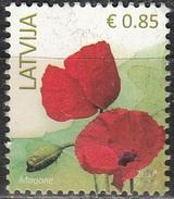Latvija 2014 Fleur 0.85 Euro O Cachet Rond - Lettonie