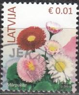 Latvija 2014 Fleur 0.01 Euro O Cachet Rond - Lettonie