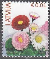 Latvija 2016 Fleur 0.01 Euro O Cachet Rond - Lettonie