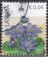 Latvija 2016 Fleur 0.04 Euro O Cachet Rond - Lettonie