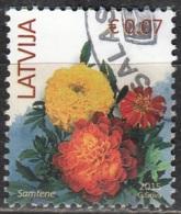 Latvija 2015 Fleur 0.07 Euro O Cachet Rond - Lettonie