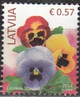 Latvija 2014 Fleur 0.57 Euro O Cachet Rond - Lettonie