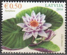 Latvija 2016 Nymphéacée O Cachet Rond - Lettonie