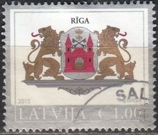 Latvija 2015 Armoirie Riga O Cachet Rond - Lettonie