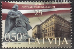 Latvija 2015 25 Ans Indépendance O Cachet Rond - Lettonie
