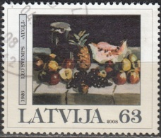 Latvija 2008 Michel 723 O Cote (2013) 2.00 Euro Leo Svemps Nature Morte Cachet Rond - Lettonie