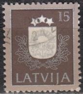 Latvija 1991 Michel 307 O Cote (2013) 0.40 Euro Armoirie Cachet Rond - Lettonie