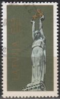 Latvija 1991 Michel 320 O Cote (2013) 0.70 Euro Monument De La Liberté Cachet Rond - Lettonie