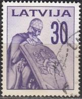 Latvija 1992 Michel 328 O Cote (2013) 0.40 Euro Monument Aux Morts Cachet Rond - Lettonie