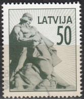 Latvija 1992 Michel 331 O Cote (2013) 0.50 Euro Monument Aux Morts Cachet Rond - Lettonie