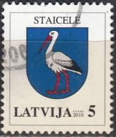Latvija 2007 Michel 693CII O Cote (2013) 0.20 Euro Armoirie Staicele Cachet Rond - Lettonie