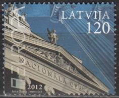 Latvija 2012 Michel 830 O Cote (2013) 3.20 Euro Europa CEPT Opéra De Riga Cachet Rond - Lettonie