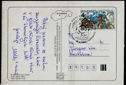 595-SLOVAKIA Post Card World Championship FISTC Mit Hundeschlitten-Sled Dog Race FISTC Donovaly 1999