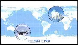 Q417.-. NEW ZEALAND-ROSS DEPENDENCY-2014 -MINISHEET-PENGUIN / PINGUINO- POLAR BEAR / OSO POLAR. FROM POLE TO POLE