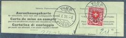Anrechnungskarte  Visp (Viège)            1935