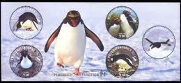 Q418.-. NEW ZEALAND-ROSS DEPENDENCY-2014 -MINISHEET-PENGUIN / PINGUINO- PENGUINS OF THE ANTARTICA - Penguins