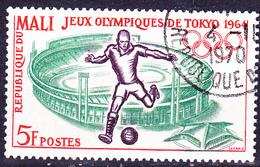 Mali - Olympiade Tokio Fußball (MiNr: 86) 1964 - Gest Used Obl - Mali (1959-...)