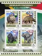 Salomon 2016, UN Conference, Rhino, Elephant, Gorilla, 4val In BF