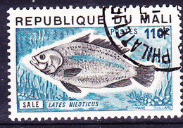 Mali - Nilbarsch (Lates Niloticus) (MiNr: 486) 1975 - Gest Used Obl - Mali (1959-...)