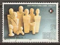 MALTE    -   1996 .   Y&T N° 954 Oblitéré.   Art Préhistorique