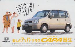Télécarte Japon / 110-011 - Comics - PIERRAFEU & Voiture HONDA - FLINTSTONES & Car Japan Phonecard - FEUERSTEIN  - 09 - BD