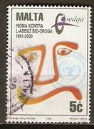 MALTE    -   1996 .   Y&T N° 960 Oblitéré.   Lutte Contre La Drogue