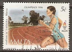 MALTE    -   1996 .   Y&T N° 965 Oblitéré.   Course à Pied